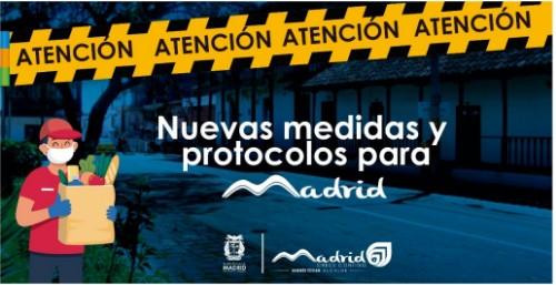 Nuevas medidas y protocolos para Madrid Cundinamarca