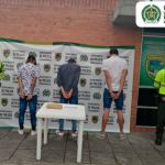 Capturados cuando transportaban un kilo de marihuana en un microbús vía Bogotá-Facatativá.