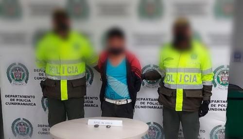 Capturado por porte de estupefacientes en Bojacá, Cundinamarca