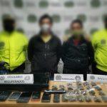 Capturan a un hombre y una mujer por tráfico, Fabricación o porte de estupefacientes y receptación en Madrid, Cundinamarca.
