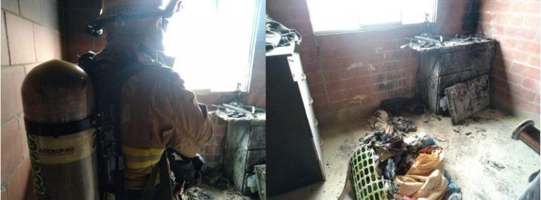 Un corto circuito habría provocado incendio en un apartamento en Madrid, Cundinamarca.