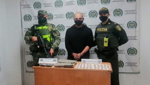 Ejército captura a individuo por porte de estupefacientes en Madrid, Cundinamarca
