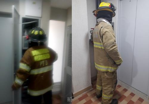 Bomberos rescatan menor de edad atrapado en un ascensor en Madrid (Cundinamarca)