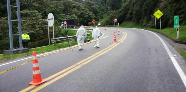 Un ciclista fallecido deja accidente de tránsito en la vía Facatativá-Albán, Cundinamarca