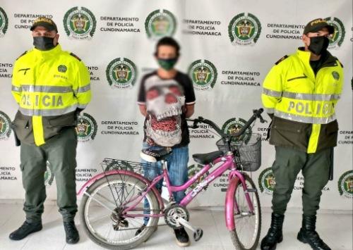 Hombre fue capturado tras el robo de una bicicleta en Ubaté