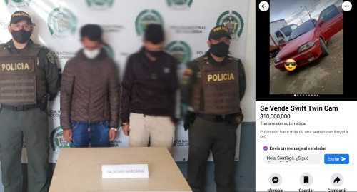 Policía ubica vehículo hurtado y vendido a través de redes sociales