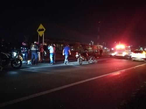 Dos personas lesionadas deja accidente de tránsito en la variante de Madrid Cundinamarca.