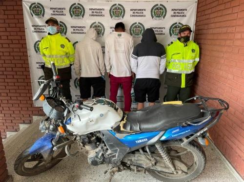 A la cárcel atracadores de la moto capturados en Facatativá
