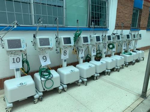 Red de salud departamental contará con 135 ventiladores adicionales