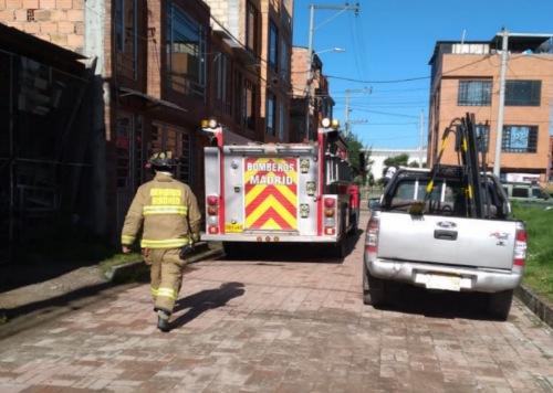 Incendio afectó una vivienda en el barrio Sauces en Madrid Cundinamarca