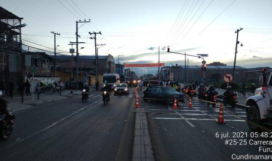 Fallece persona en siniestro vial vía Funza-Siberia - Noticias de Colombia