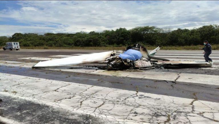 Un muerto y un herido en accidente aéreo en Mariquita, Tolima.