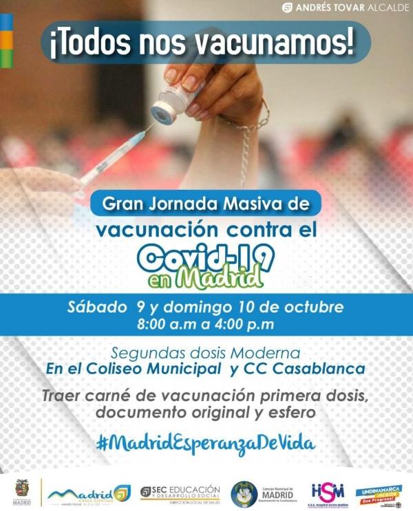 FIN DE SEMANA DE VACUNACIÓN MASIVA CONTRA EL COVID-19 EN MADRID